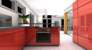 חיפוי זכוכית למטבח ראשית